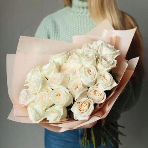 Купить на заказ Заказать Букет из 31 белой розы с доставкой по Кокшетау с доставкой в Кокшетау