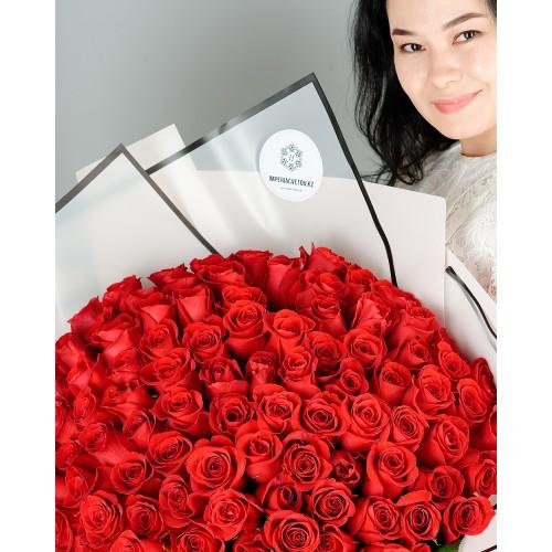 Купить на заказ Заказать Букет из 101 красной розы с доставкой по Кокшетау с доставкой в Кокшетау