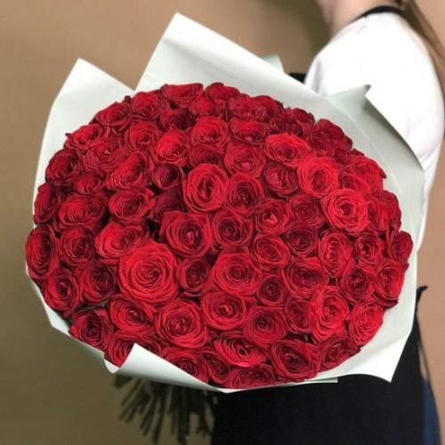 Купить на заказ Букет из 75 красных роз с доставкой в Кокшетау