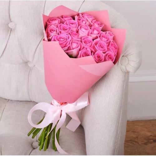 Купить на заказ Заказать Букет из 21 розовой розы с доставкой по Кокшетау с доставкой в Кокшетау