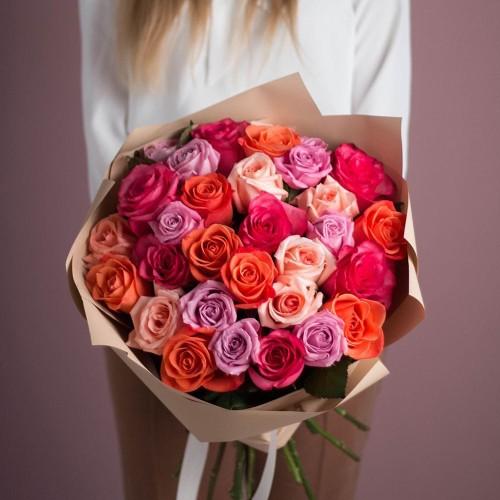 Купить на заказ Заказать Букет из 25 роз (микс) с доставкой по Кокшетау с доставкой в Кокшетау