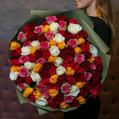 Купить на заказ Заказать Букет из 101 розы (микс) с доставкой по Кокшетау с доставкой в Кокшетау