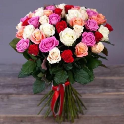 Купить на заказ Заказать Букет из 31 розы (микс) с доставкой по Кокшетау с доставкой в Кокшетау
