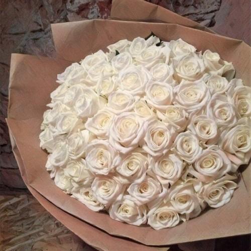 Купить на заказ Заказать Букет из 101 белой розы с доставкой по Кокшетау с доставкой в Кокшетау